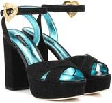 Dolce & Gabbana Crystal-embellished plateau sandals