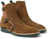 Alexander Mcqueen - Suede And Leather Chelsea Boots