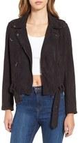Astr Women's 'Velma' Faux Suede Moto Jacket