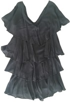 French Connection Grey Silk Dress for Women