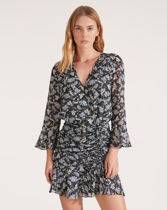 Veronica Beard Sean Petal-Printed Dress