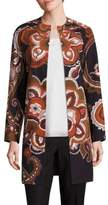 Lafayette 148 New York Makeda Cotton Fille Paisley-Print Coat