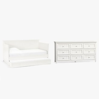 Pottery Barn Teen Beadboard Daybed with Trundle & 9-Drawer Dresser Set