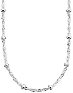 "Giani Bernini Small Bead Singapore Chain Necklace in Sterling Silver 30"", Created for Macy's"