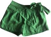 Diane von Furstenberg Green Silk Shorts for Women