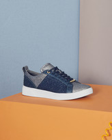 Ted Baker Lace-up Sparkle Trainers Dark Blue
