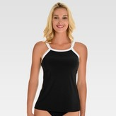 Women's High Neck Tankini Top - Aqua Green®