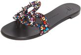 Giuseppe Zanotti Flat Jeweled Sandals