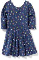 Old Navy Printed Fit & Flare Dress for Girls