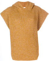 See by Chloe hooded poncho sweater - women - Cotton/Mohair/Wool - S