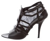 Givenchy Mesh Peep-Toe Booties