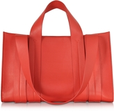 Corto Moltedo Costanza Beach Club Red Leather Tote