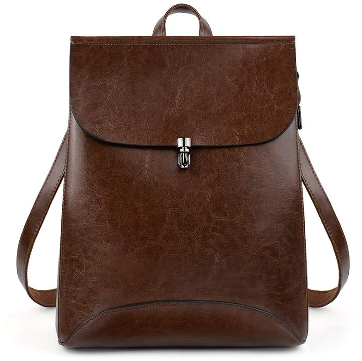 afda14088f85 UTO Women's PU Leather Backpack Purse Ladies Casual Shoulder Bag School Bag  for Girls Brown A CA