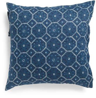 Made In India 20x20 Boho Global Denim Pillow
