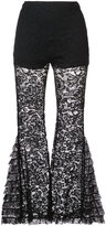 Givenchy lace detail flared trousers - women - Silk/Cotton/Viscose/Polyimide - 34