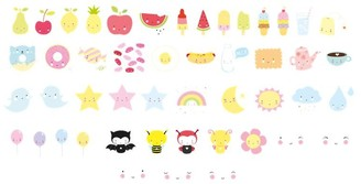 A Little Lovely Company Little Lovely Co. Light Box Letter Pack Kawaii