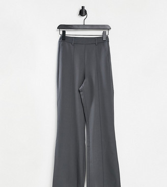 Reclaimed Vintage Inspired high waist flare pants in grey