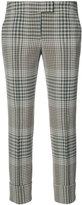 Akris Punto cropped check trousers