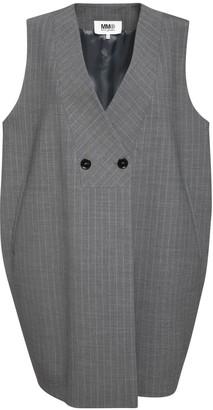 MM6 MAISON MARGIELA Oversize Pinstripe Wool Blend Vest
