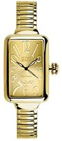 Glam Rock Women's MBD27156 Miami Beach Art Deco Gold Tone Dial Gold Ion-Plated Stainless Steel Watch