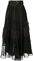 Sacai high-waisted panelled skirt