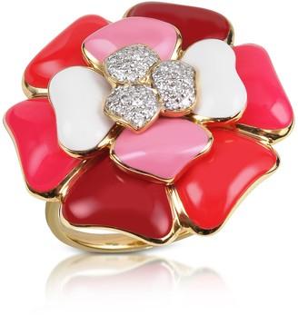 Rosato Rose - Diamond and 18K Gold Pink Flower Ring