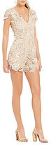 Dress the Population Juliette Scalloped Lace Romper