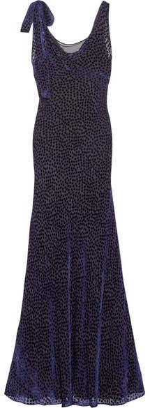 Diane von Furstenberg Devoré-chiffon Gown - Purple