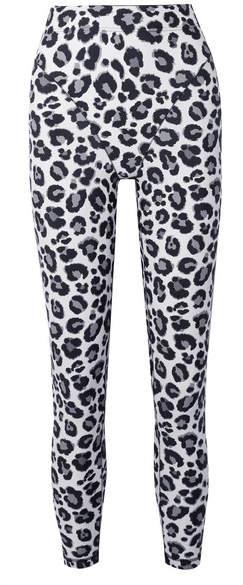Adam Selman Leopard-print Stretch Leggings - Gray