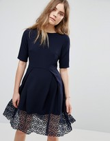 Traffic People Hepburn Dress With Lace Trim