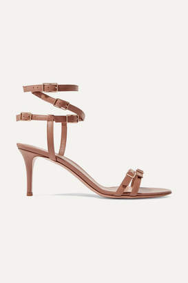 Gianvito Rossi 70 Leather Sandals - Neutral