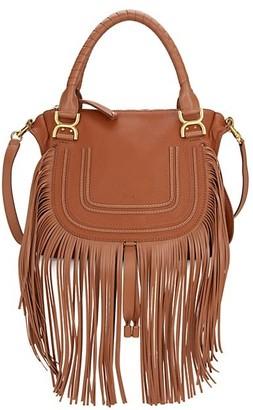 Chloé Medium Marcie Fringe Leather Satchel