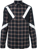 Neil Barrett checked patch detail shirt