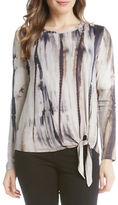 Karen Kane Long Sleeve Jewelneck Top