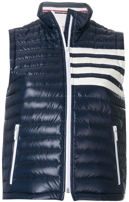 Thom Browne Satin-Finished Quilted Down Fill Vest In Nylon Tech