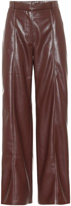 Nanushka Cleo high-rise faux leather pants