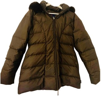 Moncler Long Brown Coat for Women Vintage