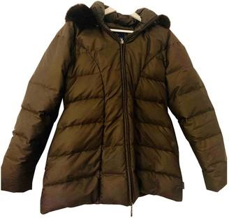 Moncler Long Brown Polyester Coats