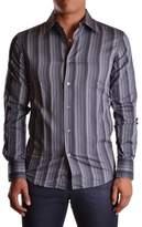 Z Zegna Men's Grey Cotton Shirt.