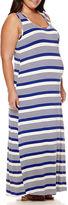 Asstd National Brand Maternity Sleeveless Knit Maxi Dress - Plus