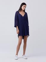 Diane von Furstenberg Fleurette Silk Chiffon Kaftan Dress
