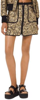 Michael Kors Silk-Blend Skirt