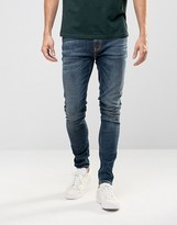 Nudie Jeans Pipe Led Super Skinny Jeans Iron Blue