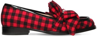 Midnight 00 20mm Antoinette Embellished Plaid Loafer