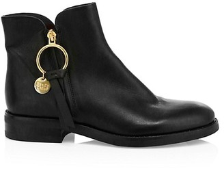 See by Chloe Louise Leather Ankle Boots