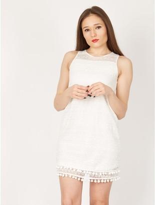 M&Co Izabel aztec and pom pom summer dress