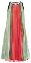 Mary Katrantzou Yas Rainbow Stripe-print dress