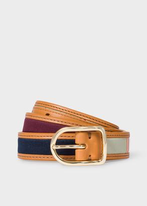 Paul Smith Women's Stripe-Jacquard Leather Belt