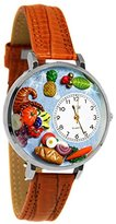 Whimsical Watches Women's U1220037 Unisex Silver Holiday Feast Silver Leather And Silvertone Watch