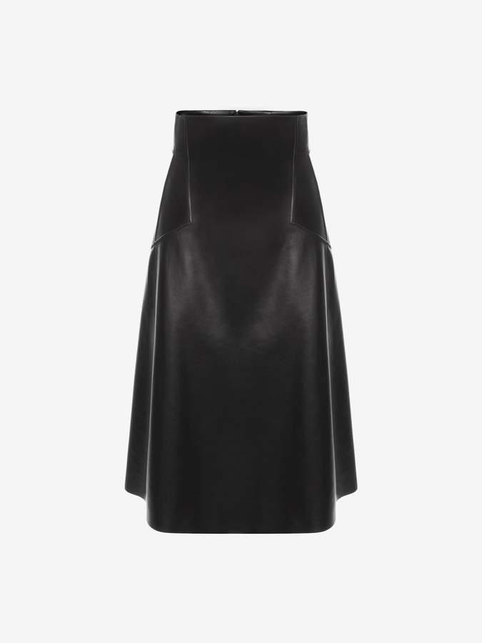 Alexander McQueen High-Waisted Leather Skirt